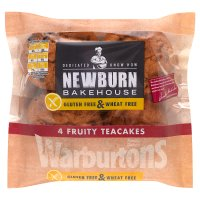 Warburtons gluten & wheat free fruity teacakes