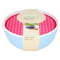 Waitrose Outdoors Salad Bowl With Tray