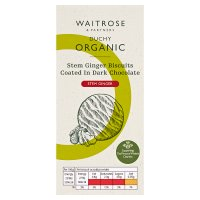 Waitrose Duchy Organic ginger biscuits coated in dark chocolate