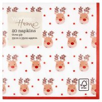 Waitrose Home Reindeer Napkins