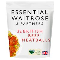 essential Waitrose 32 meatballs 100% British beef
