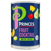 Princes fruit cocktail with juice
