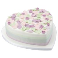 Fiona Cairns Pastel Rose Petal Celebration Cake (Sponge)