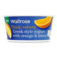 Waitrose Greek style yogurt with spiced orange
