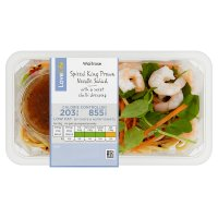 Waitrose LoveLife Calorie Controlled spiced king prawn & noodle salad
