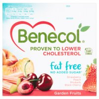 Benecol 4 fat free garden fruits yogurts