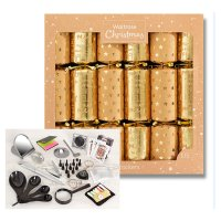 Waitrose Christmas Gold/Brown Crackers