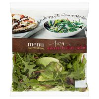 menu from Waitrose inferno rocket salad