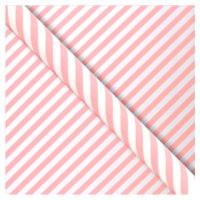 Waitrose Gift Wrap 2M Pink Candy Stripe