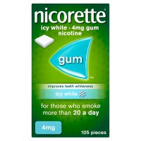 Nicorette icy white chewing gum, 4mg