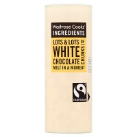 Waitrose Cooks' Ingredients white chocolate chunks