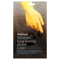 Waitrose medium long lasting gloves