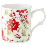 Waitrose Poinsettia Mug