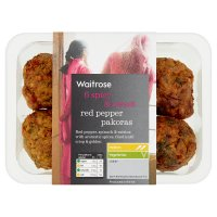 Waitrose 6 red pepper pakoras