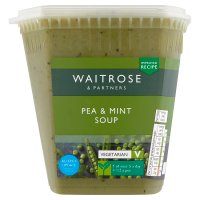 Waitrose pea & mint soup