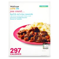 Waitrose LOVE Life you count  Beef & Red Wine Casserole