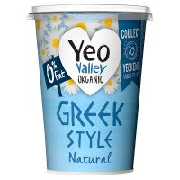 Yeo Valley organic 0% fat Greek style natural yogurt