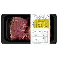 Waitrose 1 30 day dry aged Hereford beef oak smoked rump medallions
