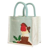 Waitrose Winter Juco Reusable Bag