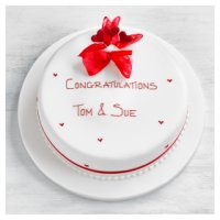 Hearts Celebration Cake - Vanilla Sponge - 25cm (Ruby)