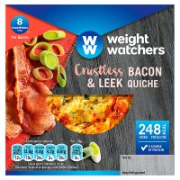 Weight Watchers crustless bacon & leek quiche
