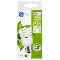 GE energy saving 1220 lumen 20W E27 ES spiral