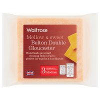 Waitrose Belton Farm medium double Gloucester cheese, strength 3