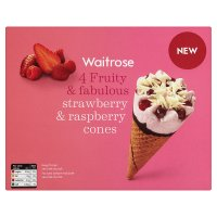 Waitrose strawberry & raspberry cones