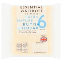 essential Waitrose English extra mature Cheddar cheese, strength 6