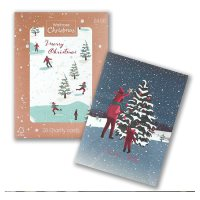 Waitrose Christmas Skaters Cards