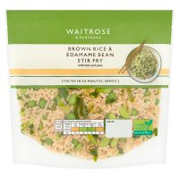Waitrose Brown Rice & Green Vegetable Stir Fry