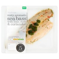 Waitrose sea bass with lime, chilli & coriander