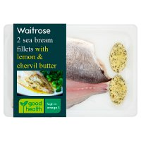 Waitrose sea bream with lemon & chervil butter