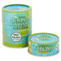John West No Drain tuna steak with olive oil, 3 pack