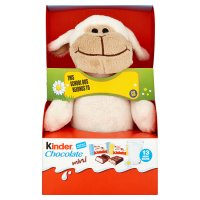 Kinder Chocolate Minis Fluffy Toy White and Black Lambs