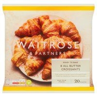 Waitrose Frozen 8 butter croissants