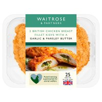 Waitrose 2 British garlic & parsley breaded chicken kievs