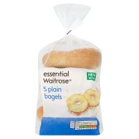essential Waitrose plain bagels