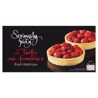 Waitrose Seriously Fruity 2 tartes aux framboises