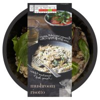 menu from Waitrose creamy mushroom risotto
