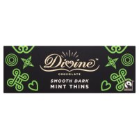 Divine dark chocolate after dinner mints