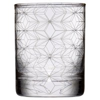 Waitrose Silver Metallic Geo Glass Tumble