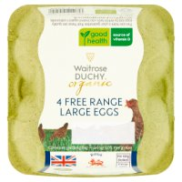 Waitrose Duchy Organic 4 large British free range eggs
