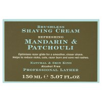 St James of London shaving cream, mandarin & patchouli