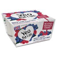 Yeo Valley Blueberry & Raspberry Bio Live Yogurt