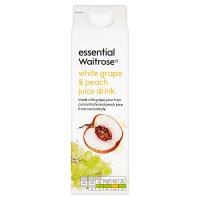 essential Waitrose white grape & peach juice drink