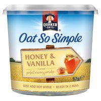 Quaker Oats So Simple honey & vanilla porridge cereal pot