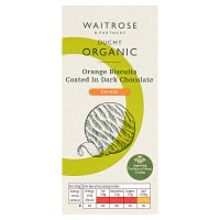 Waitrose Duchy Organic orange biscuits coated in dark chocolate
