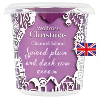 Waitrose spiced plum & dark rum Channel Island cream