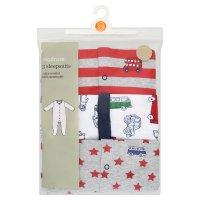 Waitrose baby boy sleepsuits, pack of 3